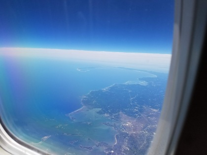cape cod from airplane window