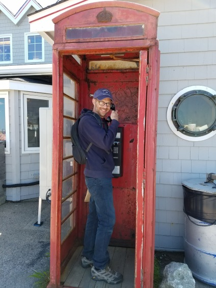 Me in phone booth Peggy's Cove